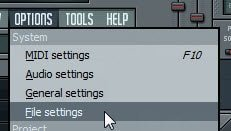 FL Studio file settings