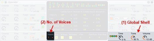 Changing Operator's default voice count from 6 to 1