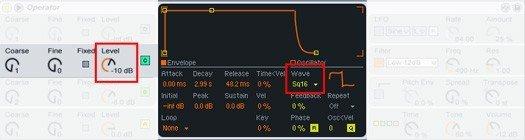 Operator's settings for Oscillator 3