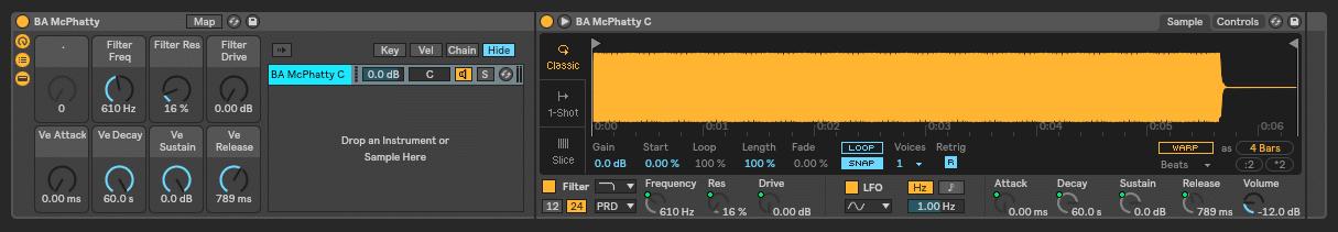 Deep Bass Ableton Rack