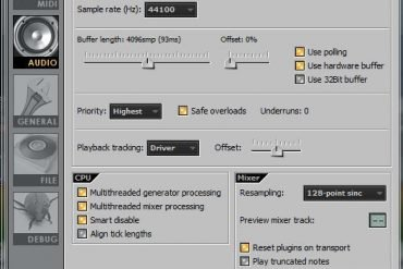 FL Studio is using too much CPU