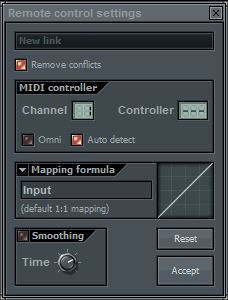 Midi Keyboard Controller Settings