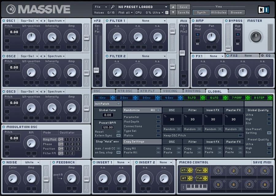MAssive Synth VST Audio Plugin