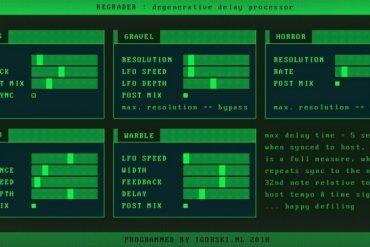 Regrader Lo-Fi Delay VST Plugin