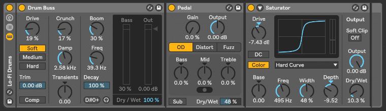Ableton Live Lo-Fi Drum rack