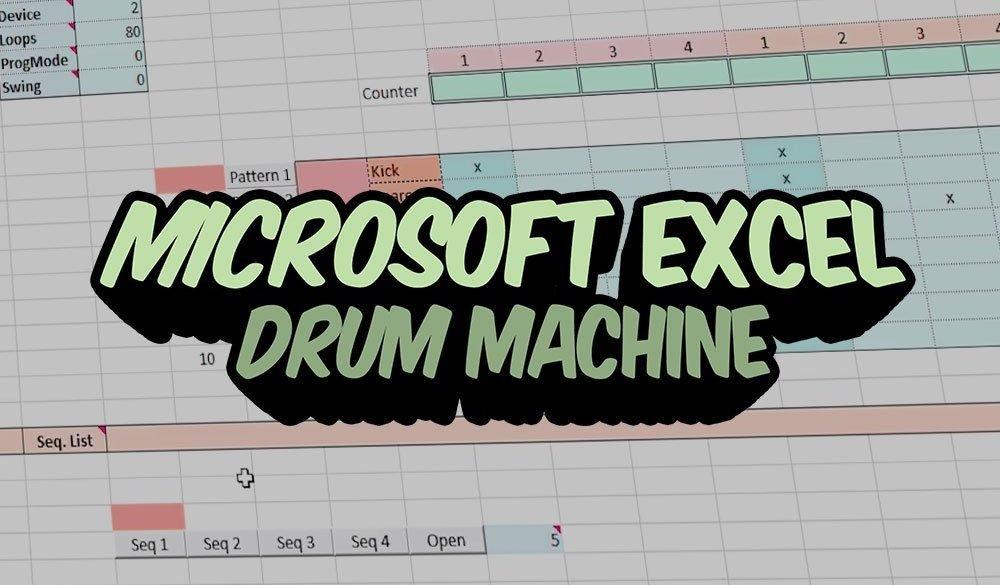 Microsoft Excel Drum Machine