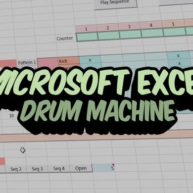 Microsoft Excel Drum Machine